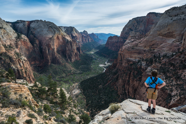 My son, Nate, on Angels Landing in Zion National Park.