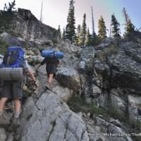 The user trail to Lake 8522, Sawtooth Mountains.