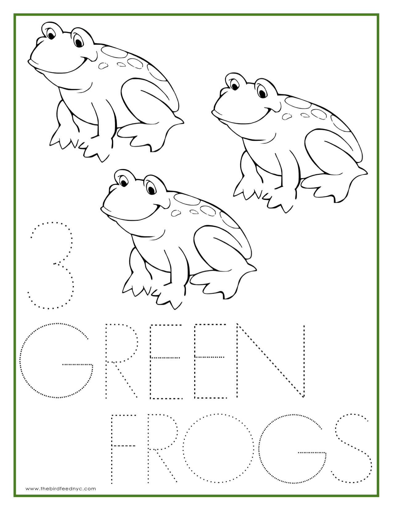 Free Coloring Pages Of Green Frog