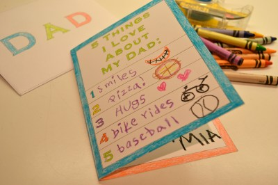 Printable Father's Day Card for Kids