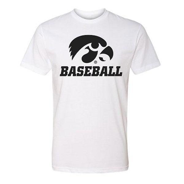 Iowa Hawkeyes Baseball Basic Logo Tee (White)