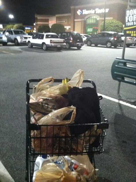 Sometimes, all you can do is make sure you buy enough food at Harris Teeter to get ready for weird weather.