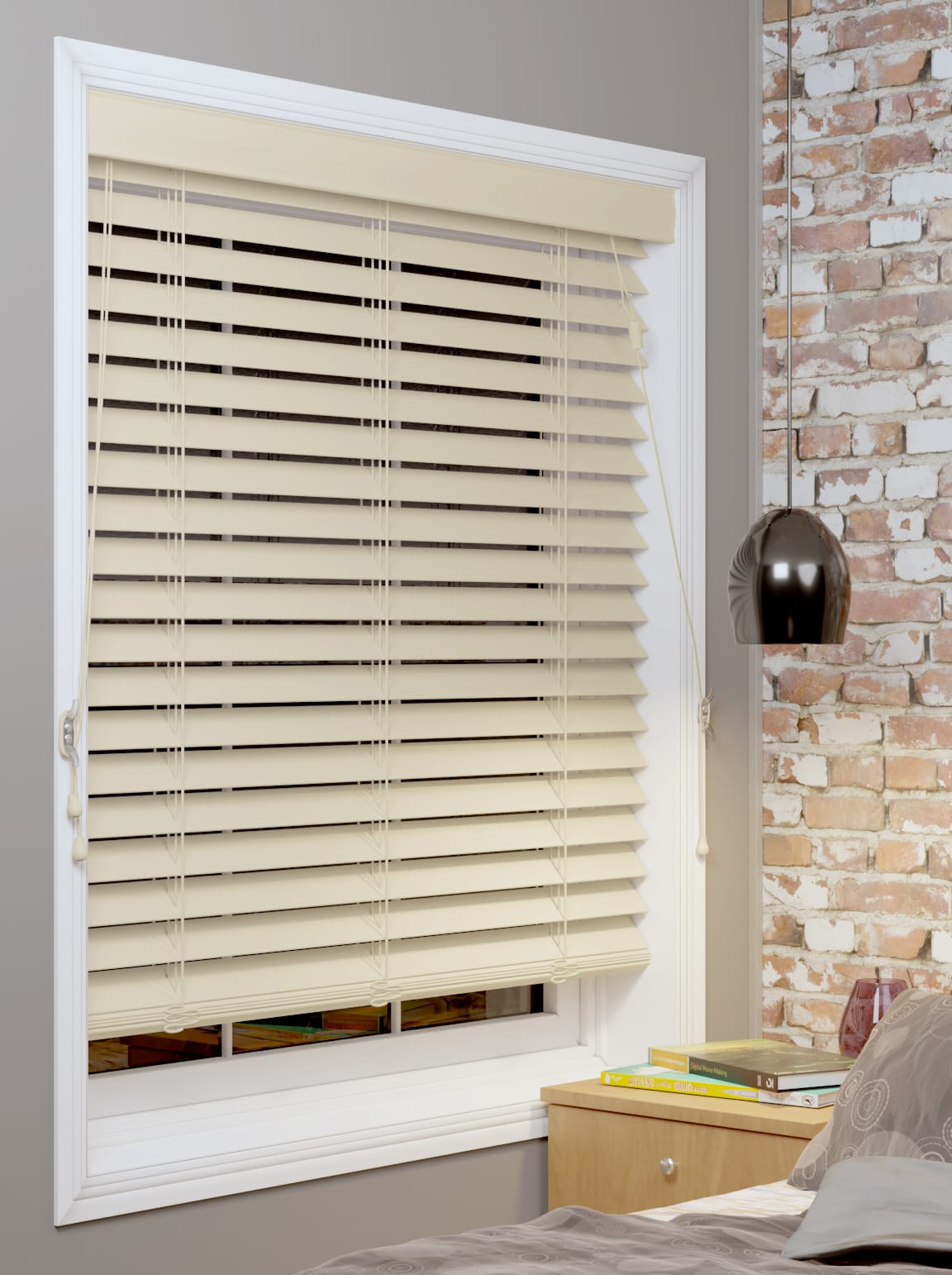 Timber Vertical Blinds 50mm Timber Venetian Blind The Blinds Place