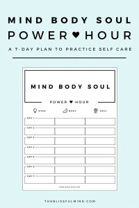 How To Get Better At Self Care Using The Power Hour Method ...