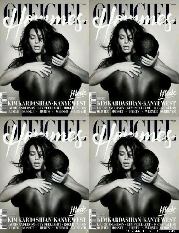 Kimye. L'Officiel Hommes cover.