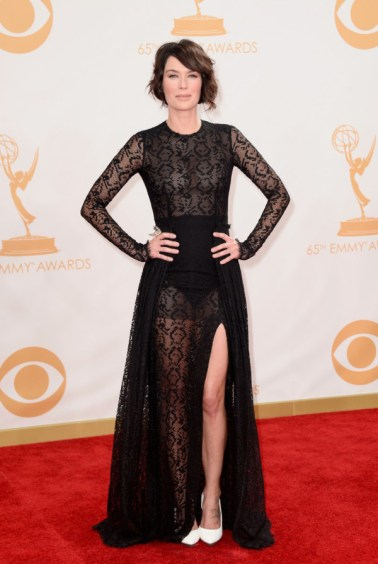Lena Headey in Alessandra Rich.