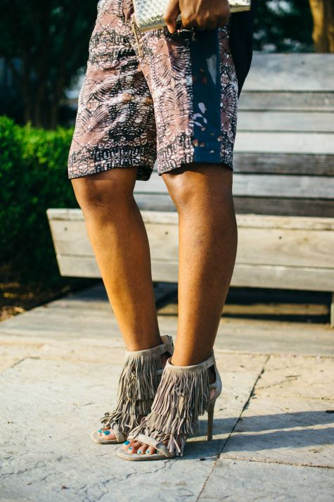fringe, shorts