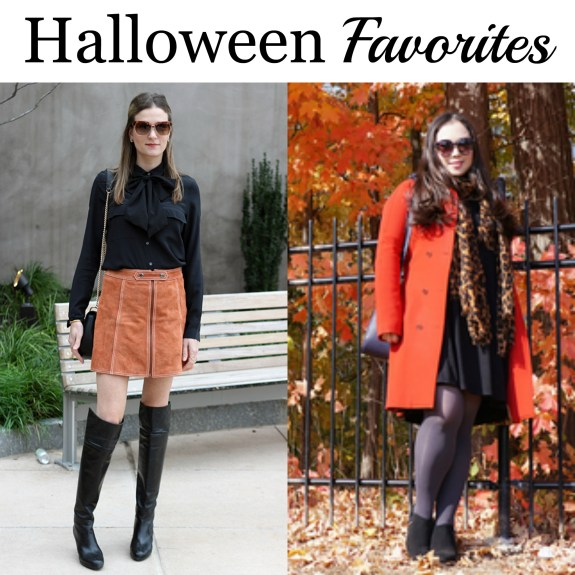 halloween style, orange and black, blogger fall style, blogger halloween style