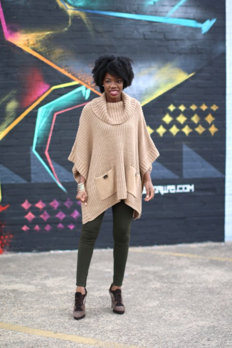 cape, olive, camel, fashionista, camel cape, sweater cape, cape sweater, brown blogger, style blogger, fall style