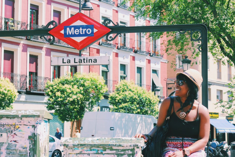 This could be US, perched under metro signs, laughing whimsically at nothing but this photo opp, but you playin'...