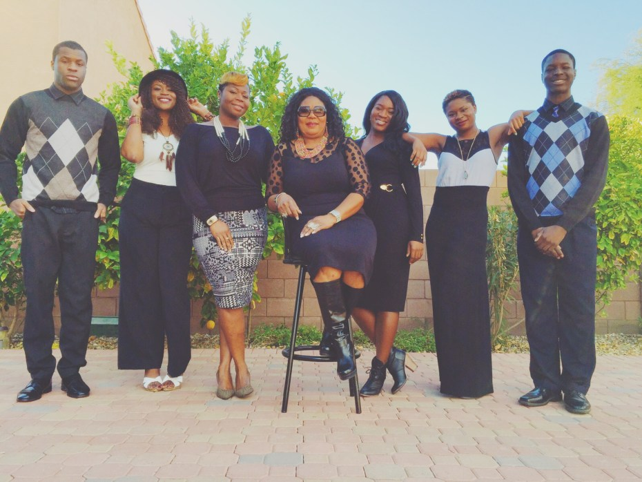 My mom front and center with her 6 kids servin you sass on a silver platter. Holla.