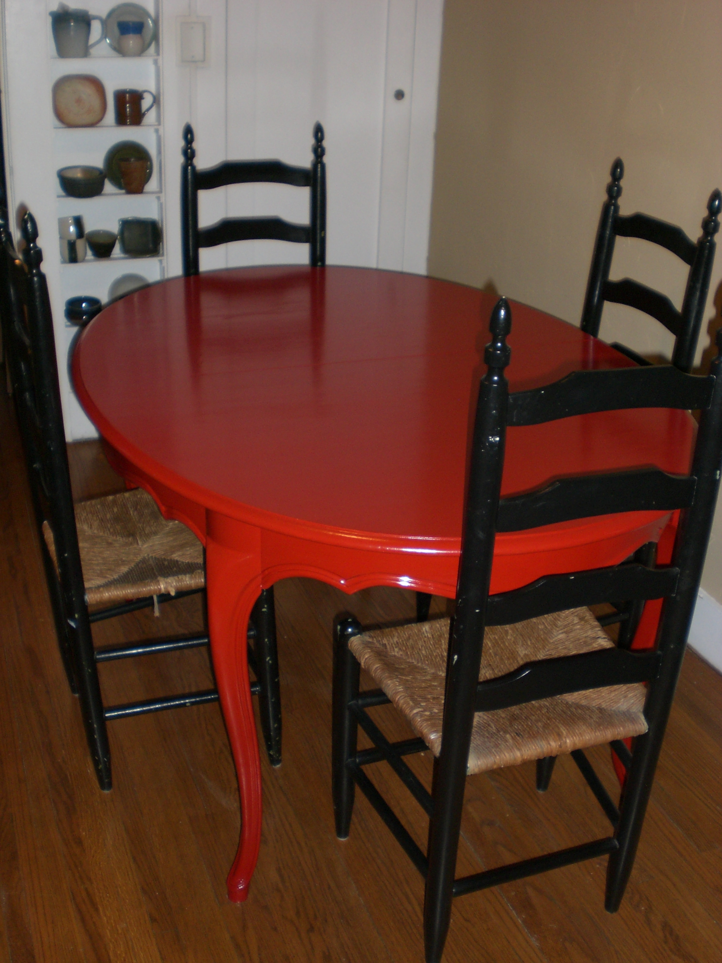 painting furniture painting kitchen table So after nine months my finished table