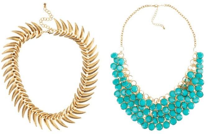 h&m jewelry spring 2012