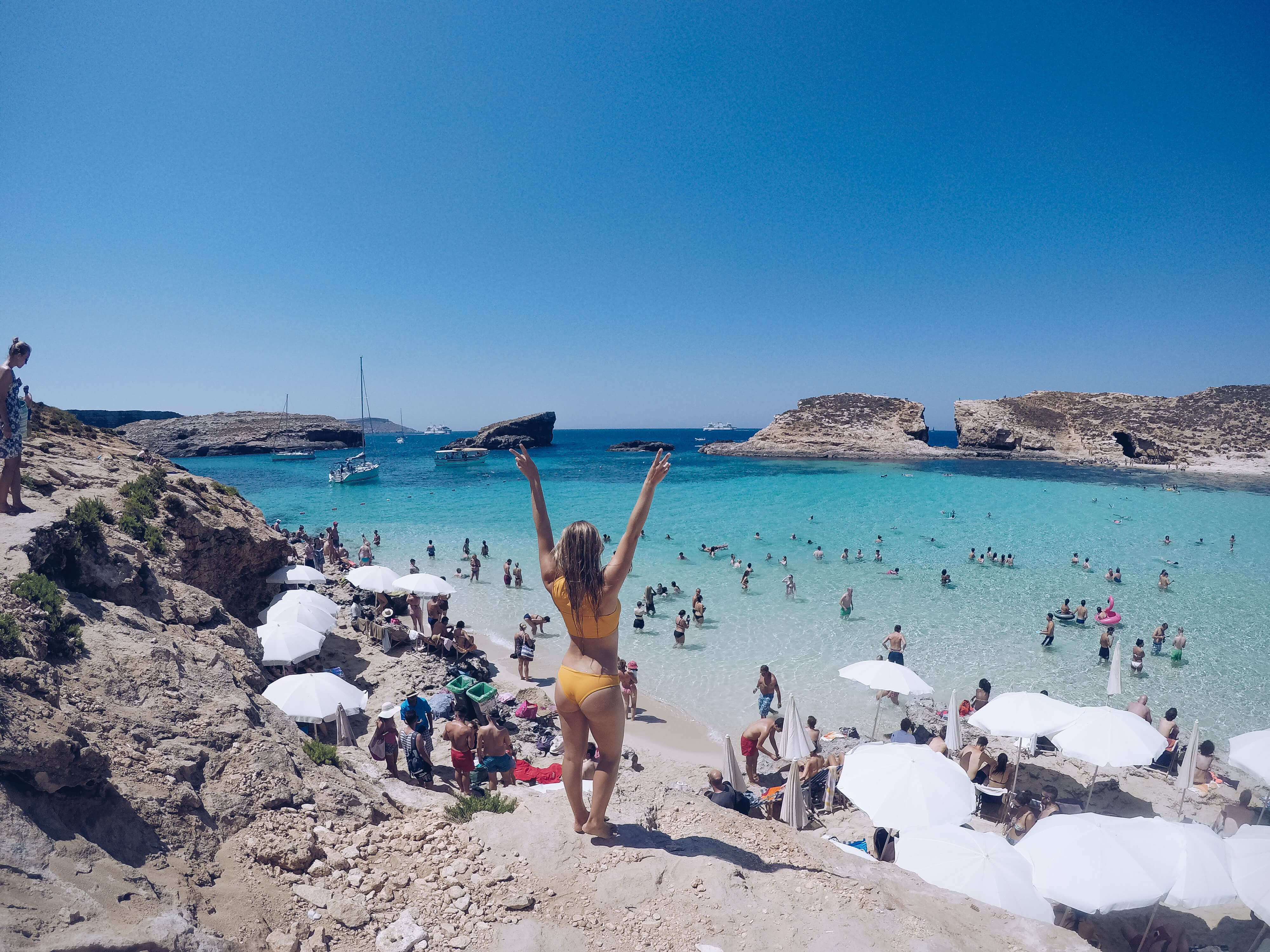 Day Trip To The Blue Lagoon In Malta O The Blonde Abroad
