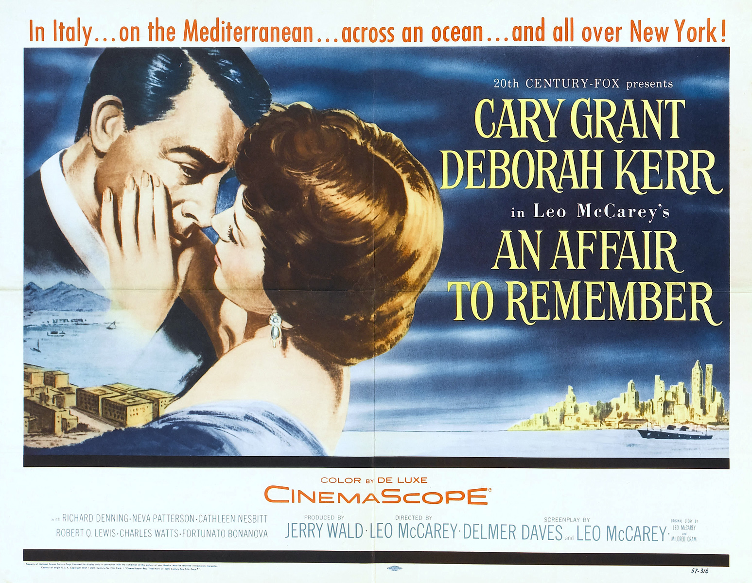 Wandposter Wald An Affair To Remember Poster The Blonde At The Film