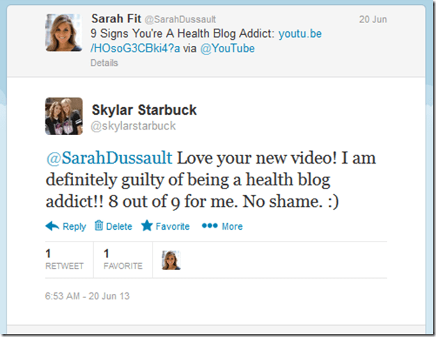 retweet from sarah fit