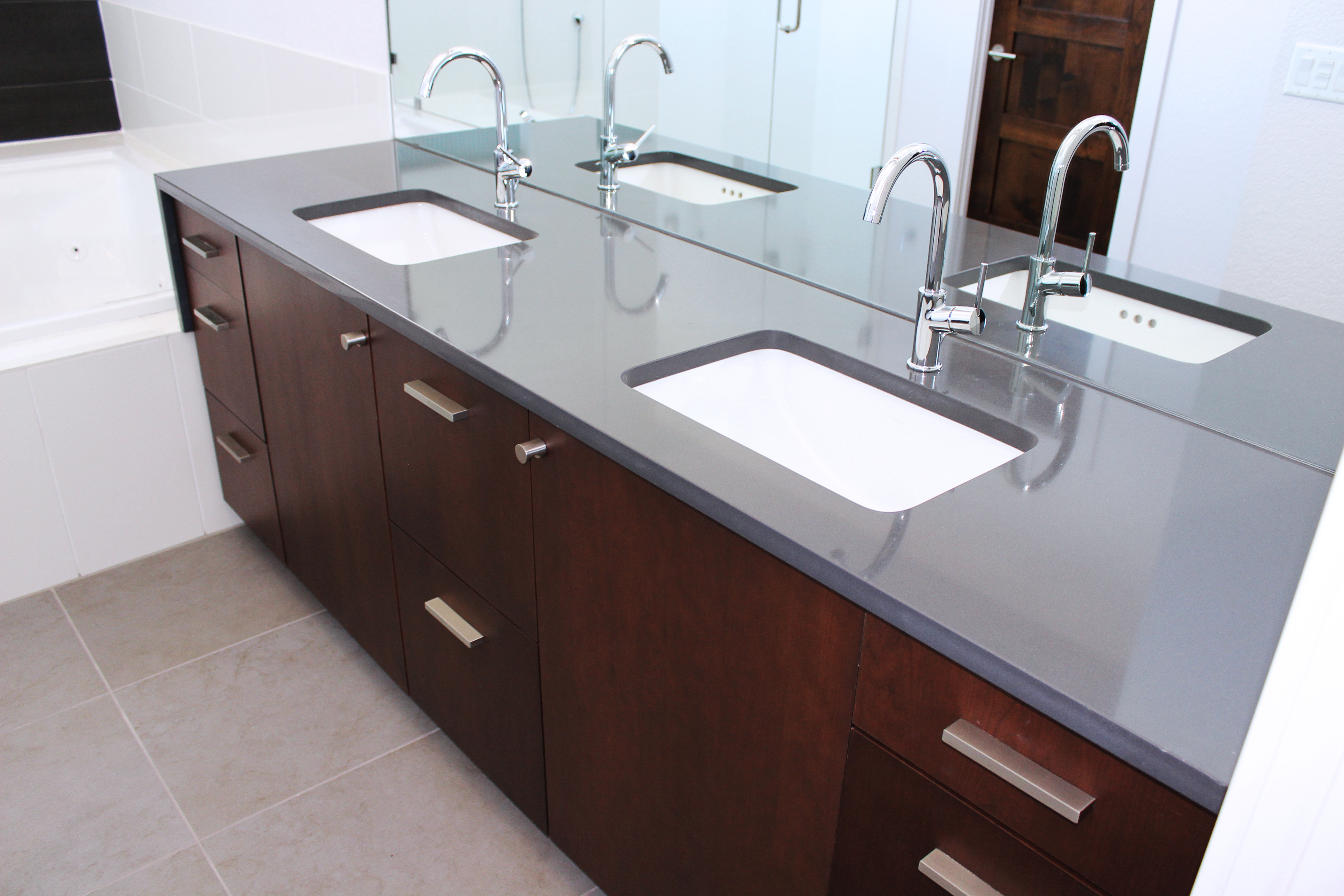 Best Countertops For Bathrooms The Top Shop Inc American Cabinet And Flooring Inc