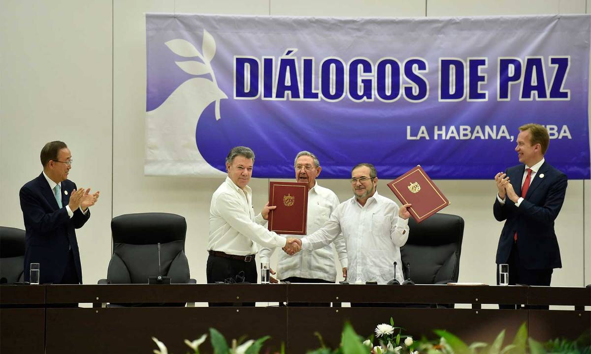 Farewell to arms: Colombia announces 'end of conflict'