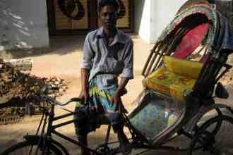 Rickshaw driver in Dhaka