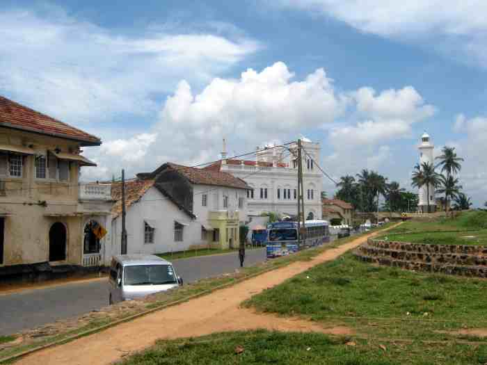 Wandering in the streets of Galle Sri Lanka