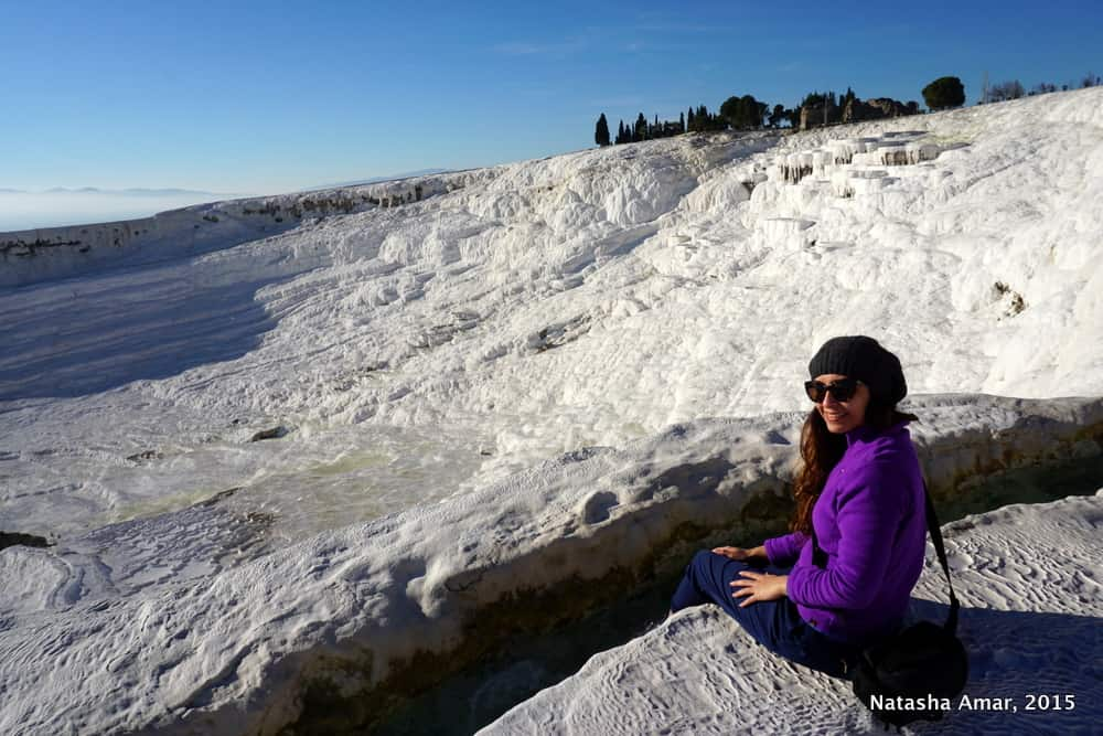 Natasha Amar in Pamukkale Turkey