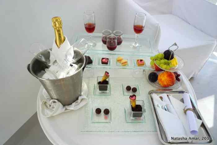 Welcome dessert platter