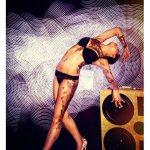 Light Painting BoomCase Girl Bikini Vintage Suitcase Stacks Colors Dark