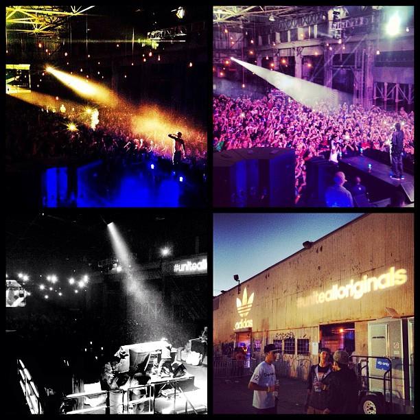 snoop dogg lion Boomcase stage adidas unitealloriginals unitela big sean araabmuzik concert LA stage adidas unitela