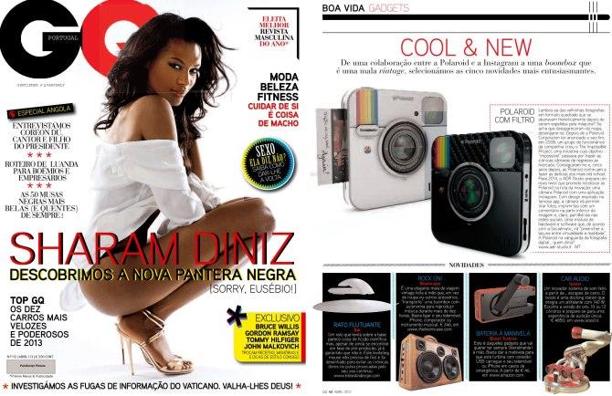 GQ Magazine BoomCase Instagram Camera Portugal sharam diniz model