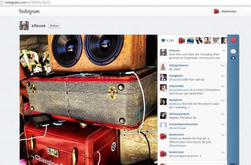 elle fashion Magazine coachella boomcase charging station