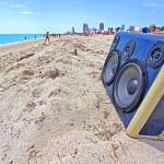 Miami Beach Florida Ultra Music Festival Hawaii BoomBox Bikini Island Life Beautiful BoomCase Sand Beach Palm Trees
