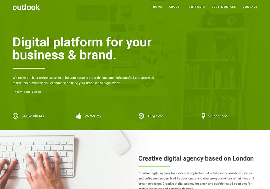 Outlook onepage template - The Bootstrap Themes - bootstrap one page template