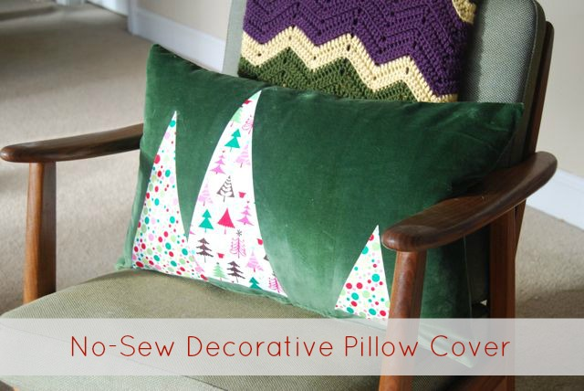 DIY Easy No-Sew Applique Pillow Covers - The Borrowed AbodeThe - decorative christmas pillows