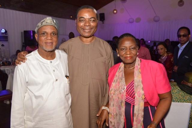 Celebrant with Mr. & Mrs. BOLA Akingbade