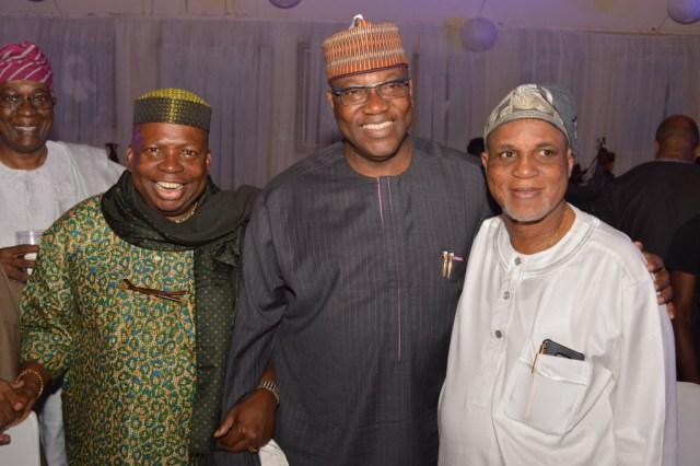 Dele Fajemirokun, John Momoh with celebrant