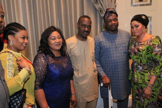 Ibidun Ighodalo, Mrs. Afolabi , Pastor Ituah Ighodalo & H.R.H Oba Rasheed Elegushi & Olori (1)