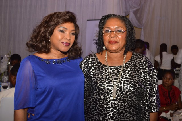 Mrs. Bunmi Sonuga with Mrs. Joy Shobanjo.