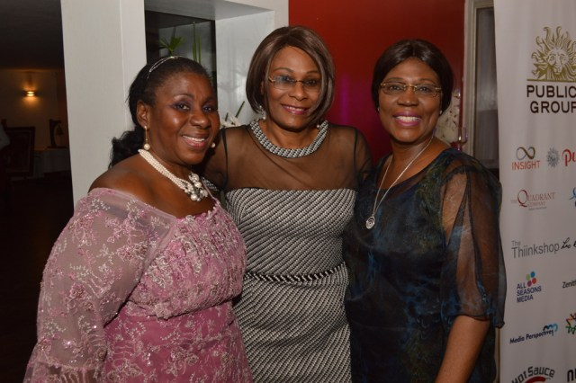 Mrs. Kehinde Dino, Mrs. Doyin Rhodes-Vivour with Dr. Yemisi Abebe