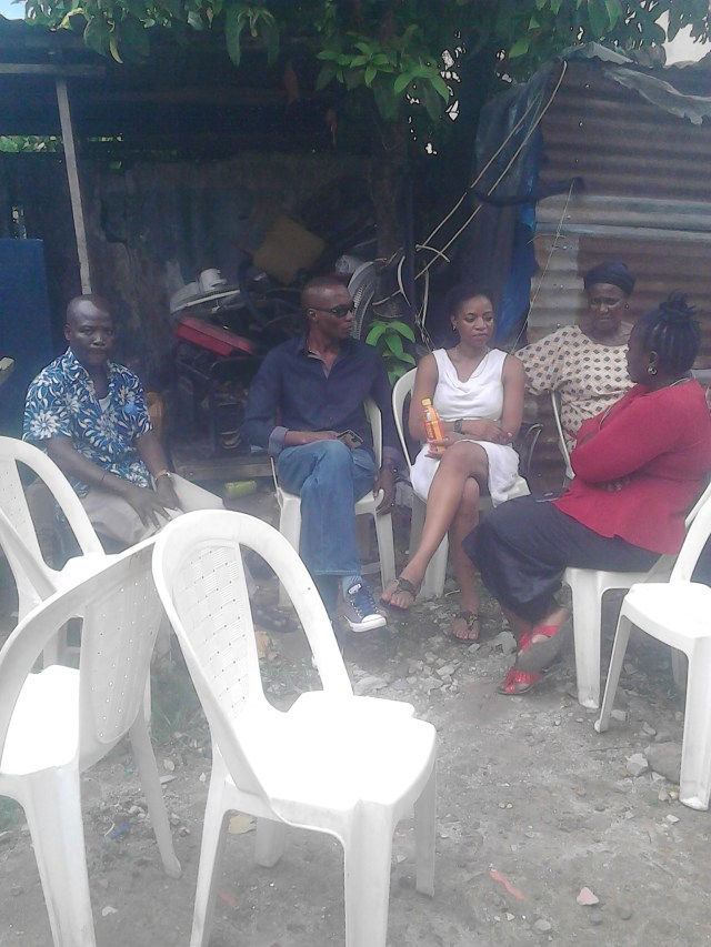 OJB's third wife (m) being consoled by well wishers