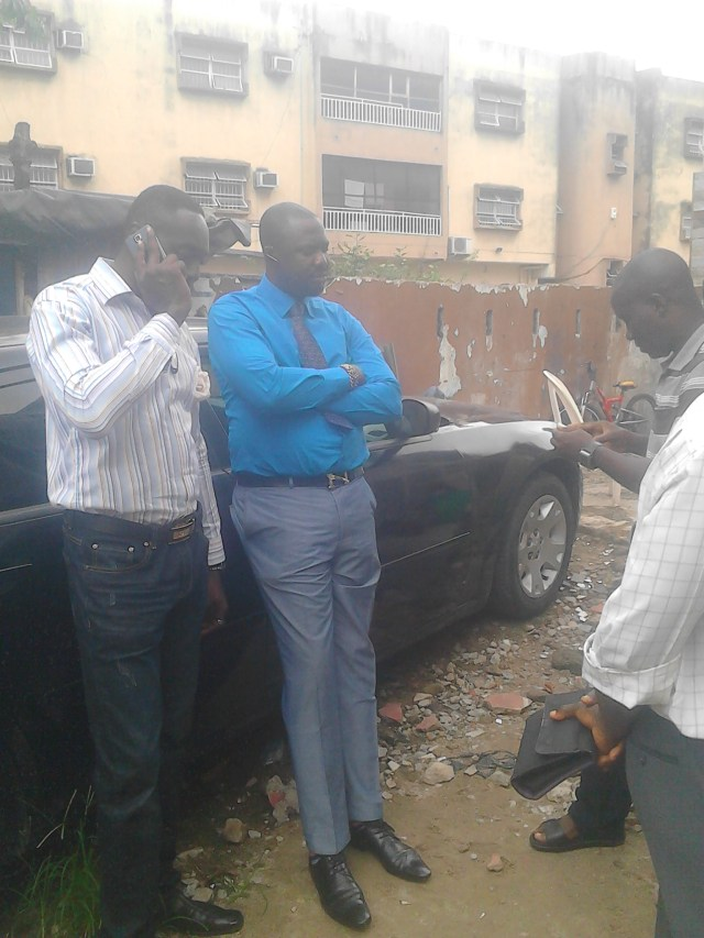 OJB's manager in blue in a mournful mood