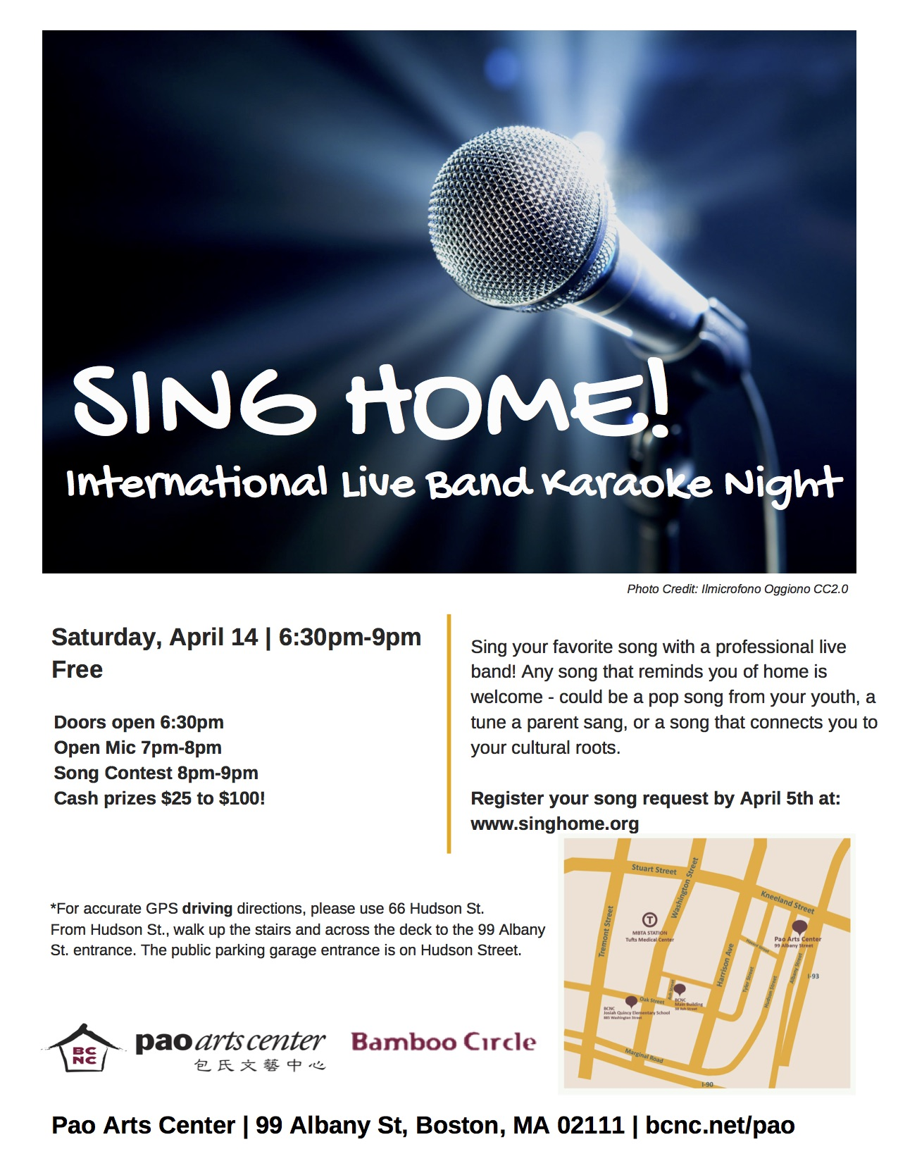 Art Garage Open Mic Sing Home International Live Band Karaoke Night 04 14 18