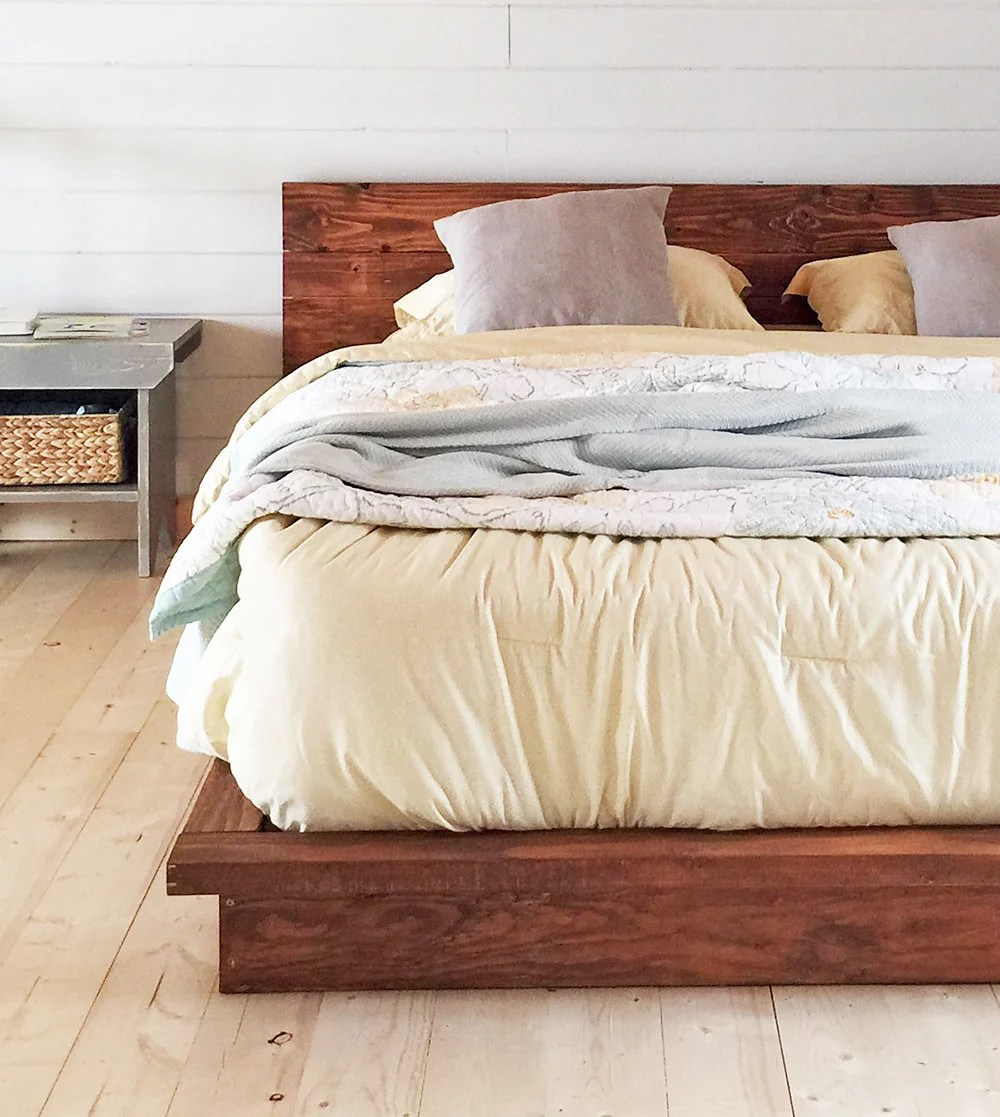 Cheap Wooden Bed Frames 18 Gorgeous Diy Bed Frames The Budget Decorator