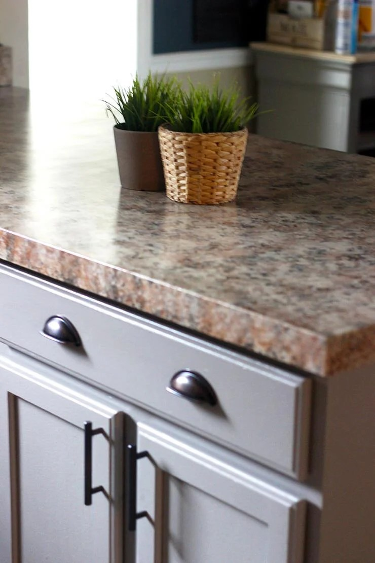 Diy Faux Granite Countertops In Just A Few Easy Steps The Budget Decorator