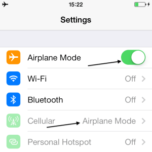 iPhone Airplane Mode