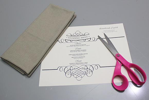 Free Wedding Menu Template The Budget Savvy Bride - wedding menu template