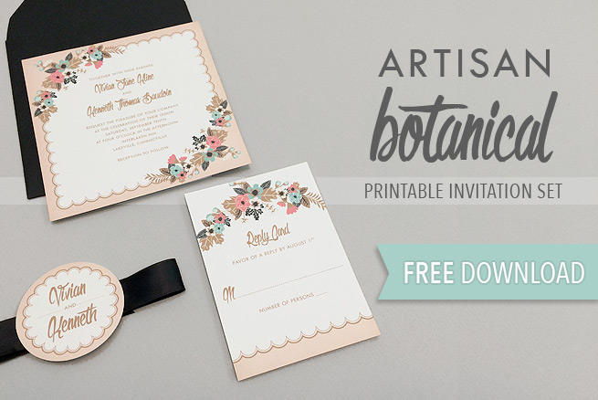 Free Delicate Floral Wedding Invitation Suite The Budget Savvy Bride - microsoft word wedding invitation templates free