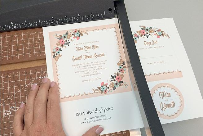 Free Delicate Floral Wedding Invitation Suite The Budget Savvy Bride - brides invitation templates