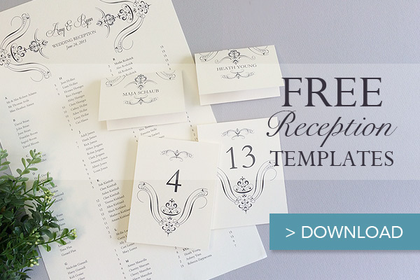 Free Printable Wedding Reception Templates The Budget Savvy Bride