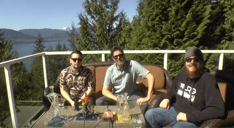 Puffing, drone flying and Puffing with Cameron and Brett BubbleMan