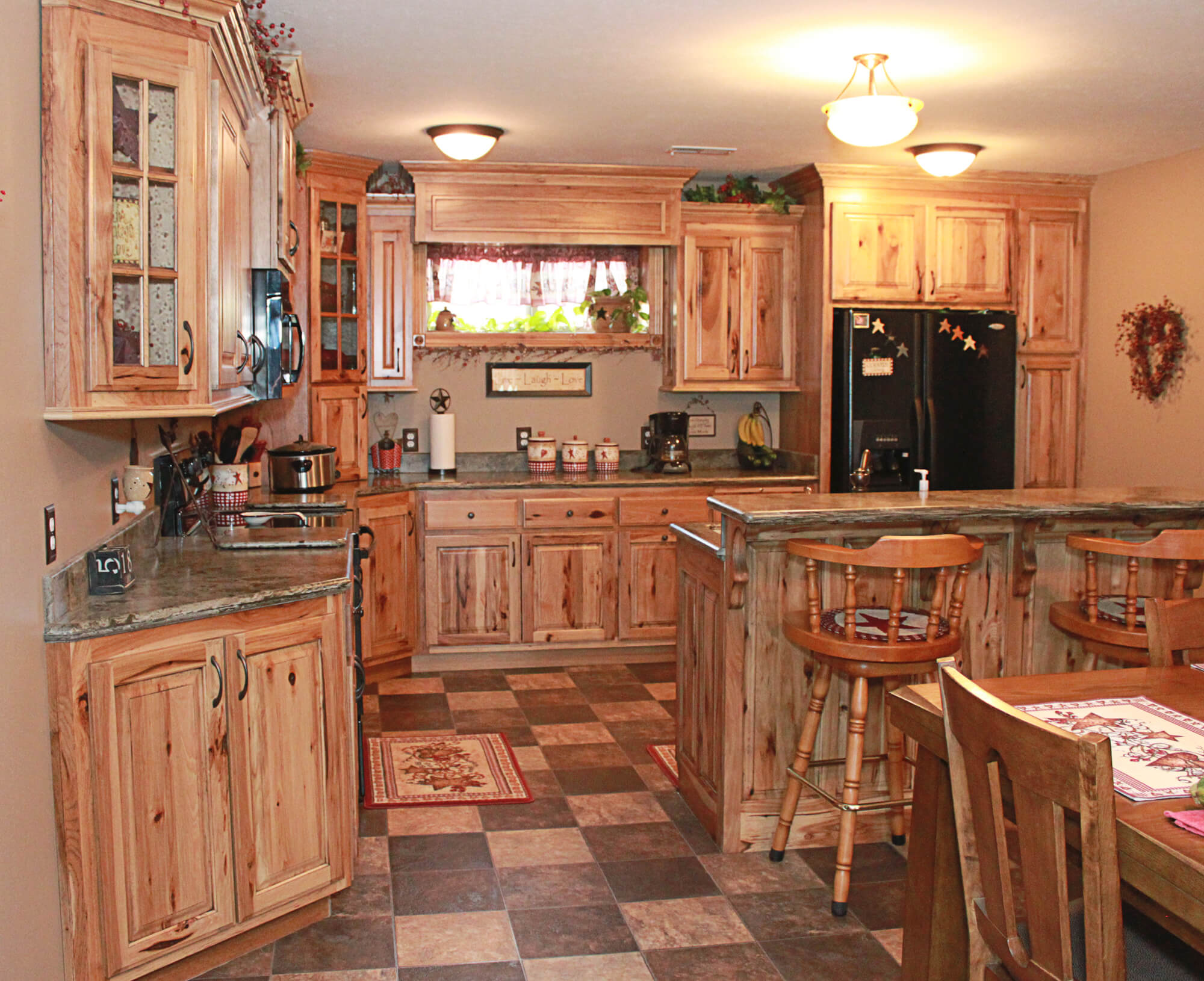Kitchen Cabinets Pictures Gallery The Cabinets Plus Rustic Hickory Kitchen Cabinets